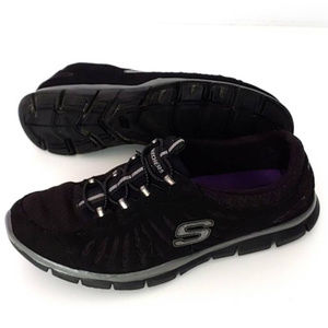 Sketchers Flex Black Lightweight Sneakers Sz 7